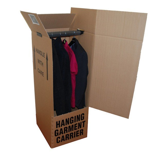 Cotswolds removals company clothes packing box